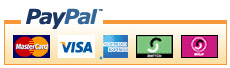 We accept MasterCard, Visa, American Express, Discover, Giropay and all major cards via PayPal